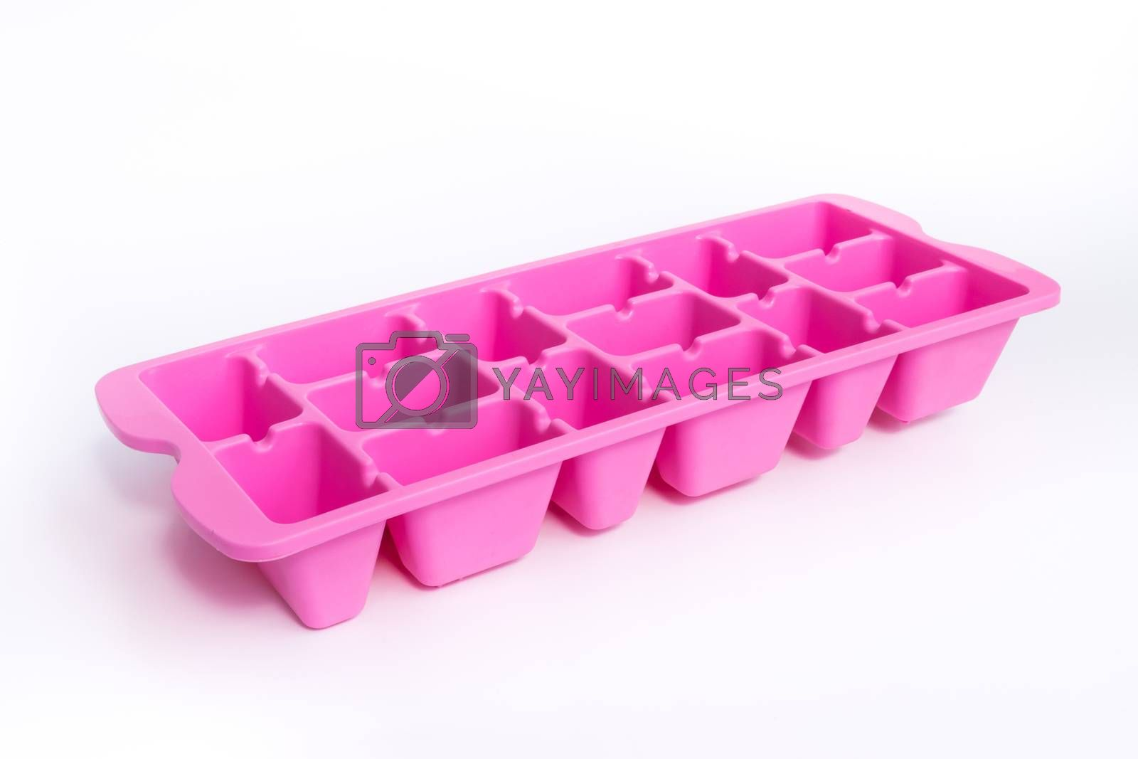 Colorful Pink ice tray a device for Ice