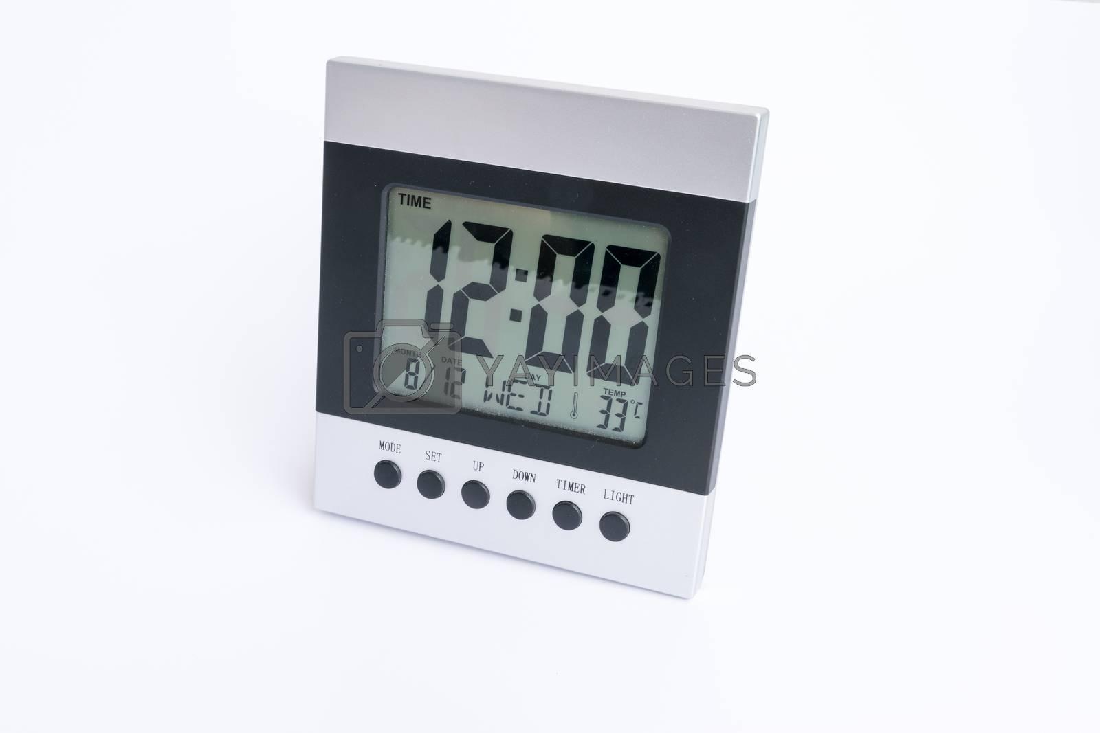 Digital Desktop Clock. by wattanaphob