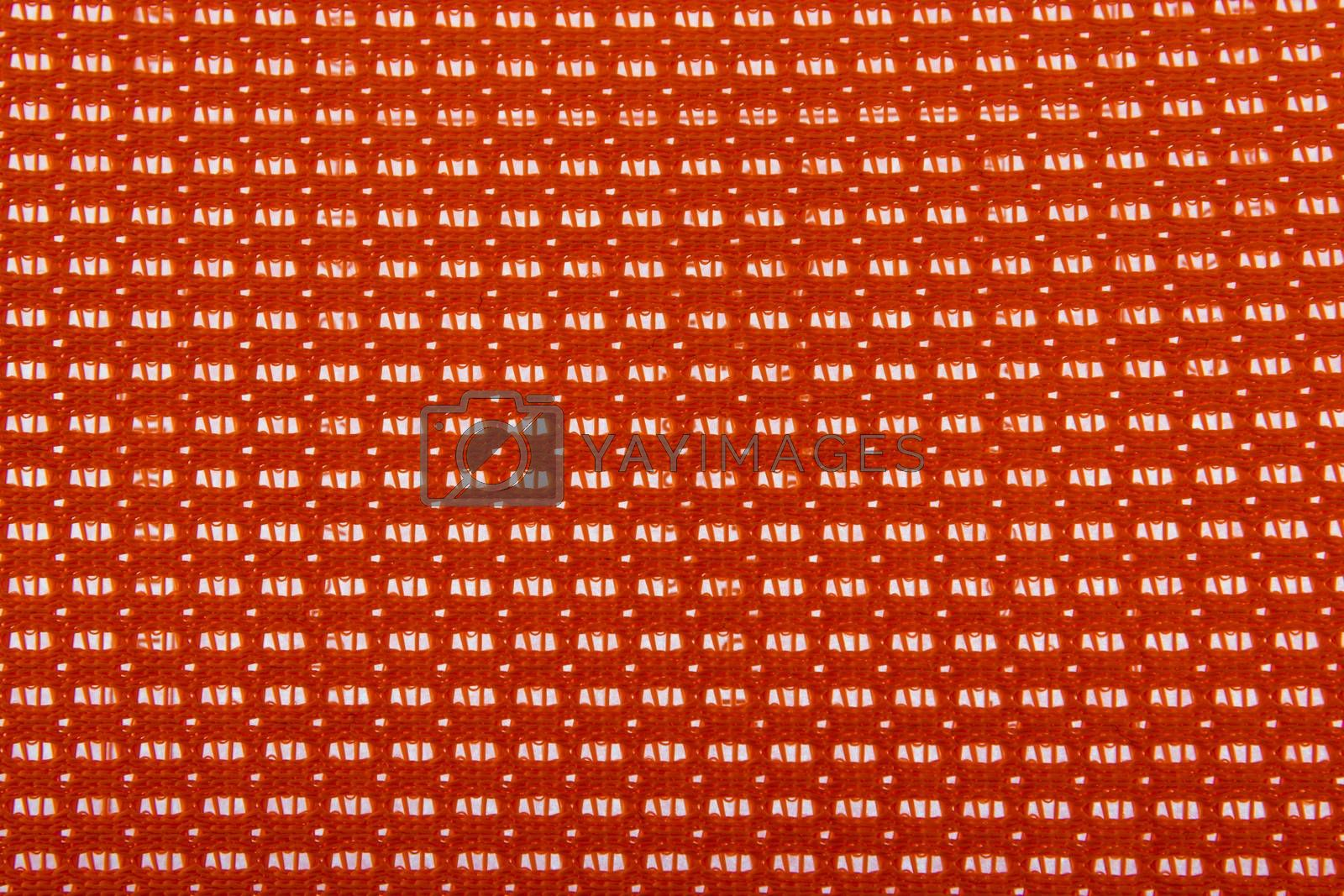 Orange color plastic background pattern texture. by wattanaphob