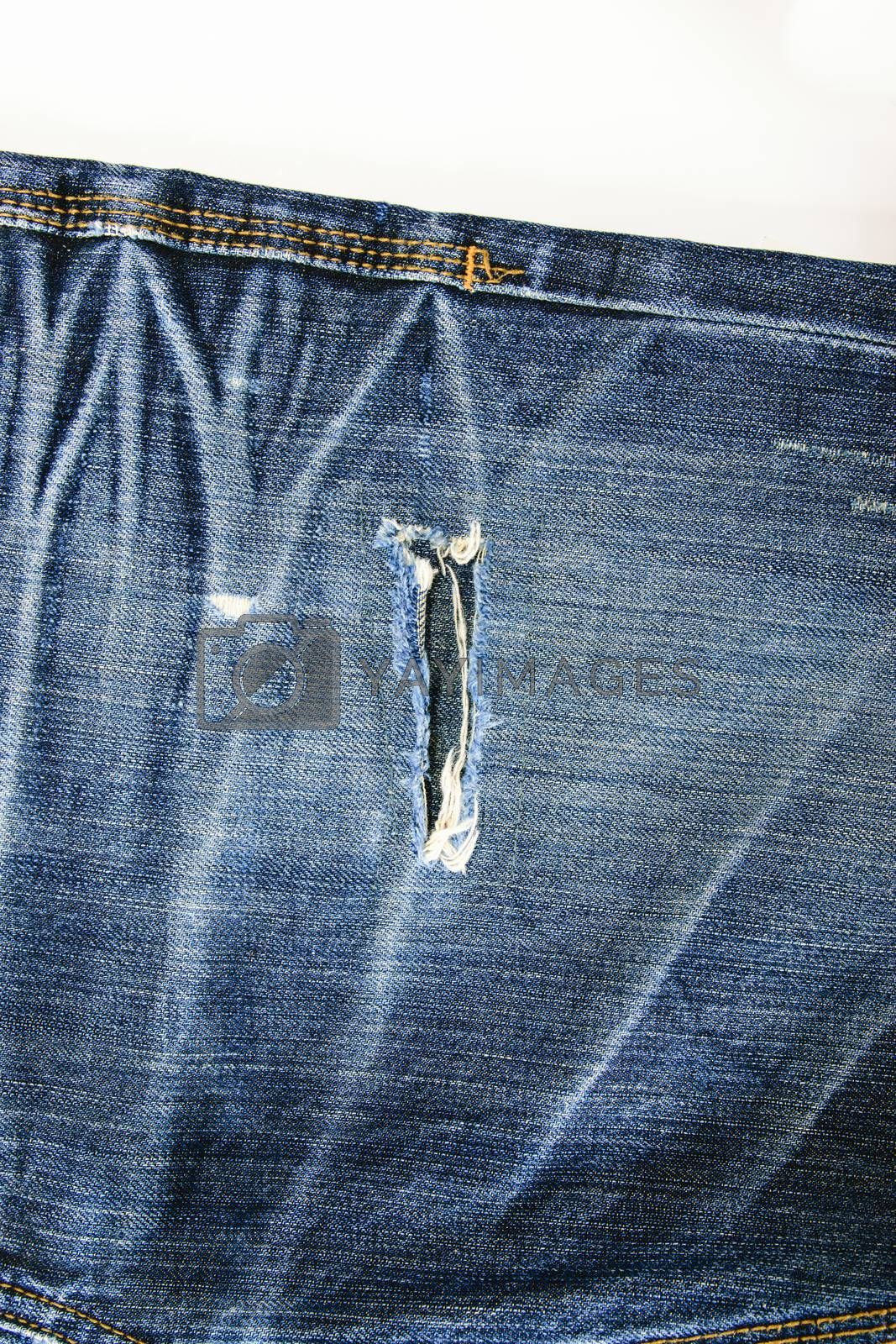 Blue jeans, long legs For men and women.