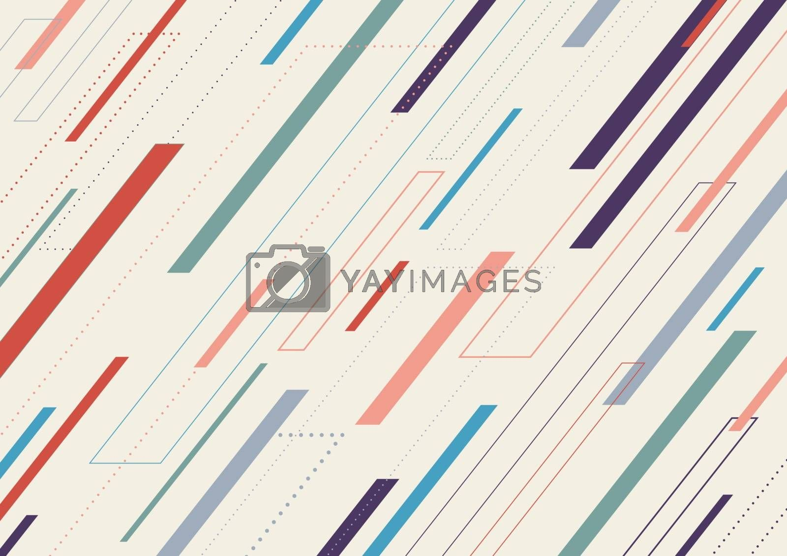 Abstract geometric dash lines diagonal pattern on white background. Modern stylish repeat geometry design. Vector illustration