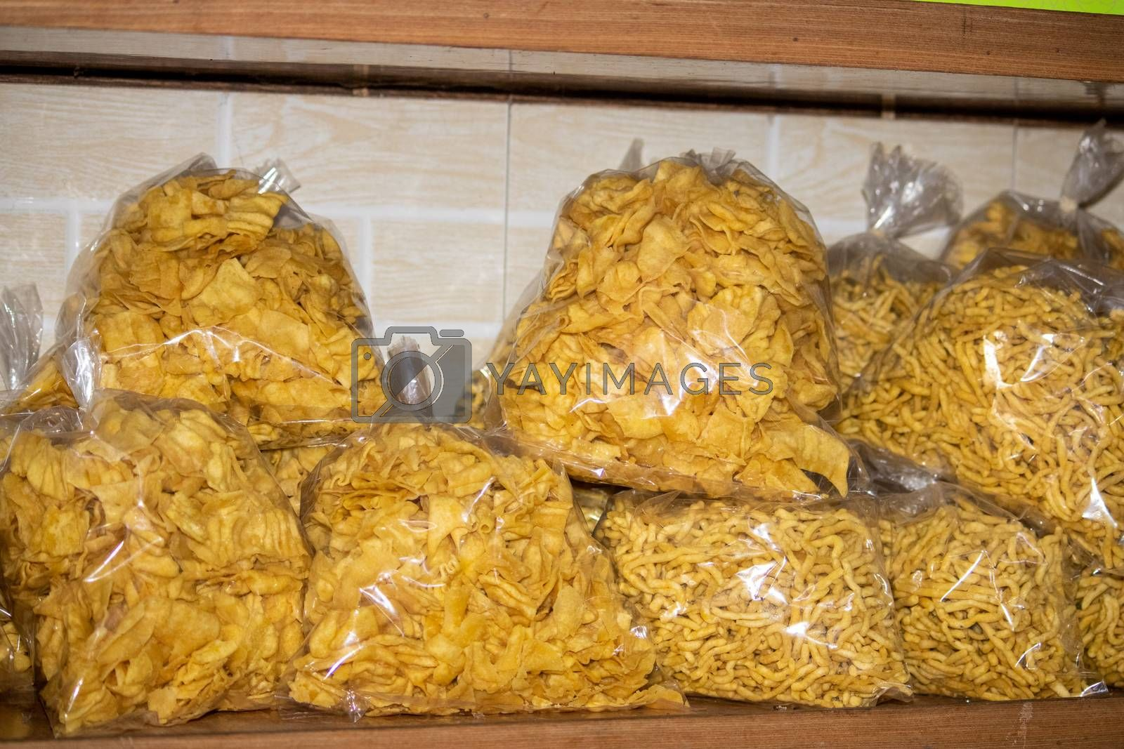 Dehradun, Uttarakhand/India-October 14 2020:Traditional Indian snacks are ready for sale in Navratri & Diwali festival in India. . High quality photo