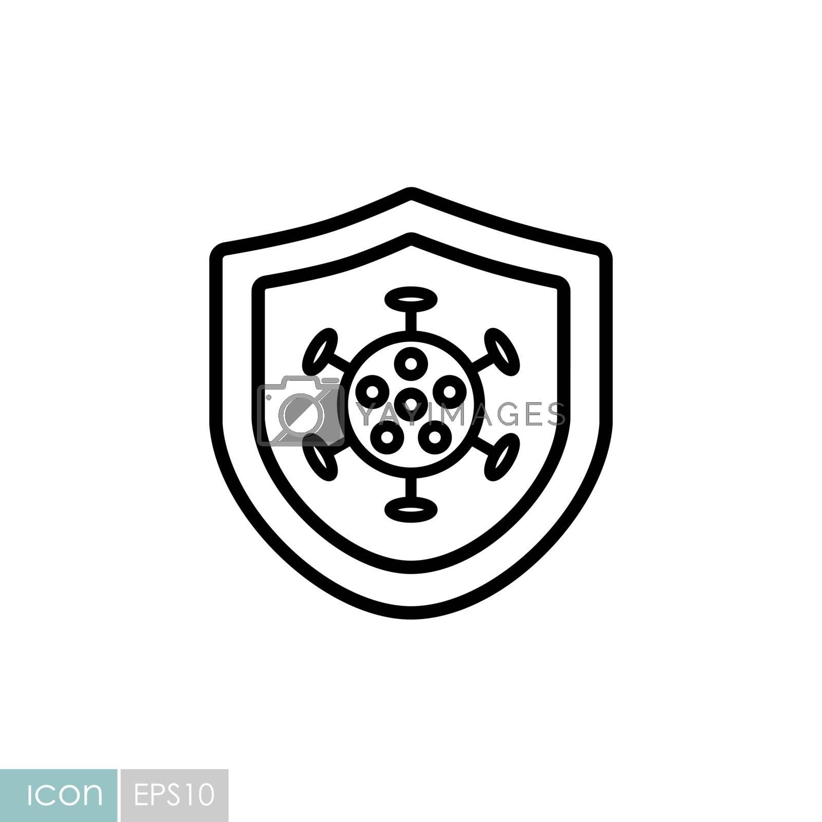 Corona virus protection vector icon. Medical sign. Coronavirus. Graph symbol for medical web site and apps design, logo, app, UI