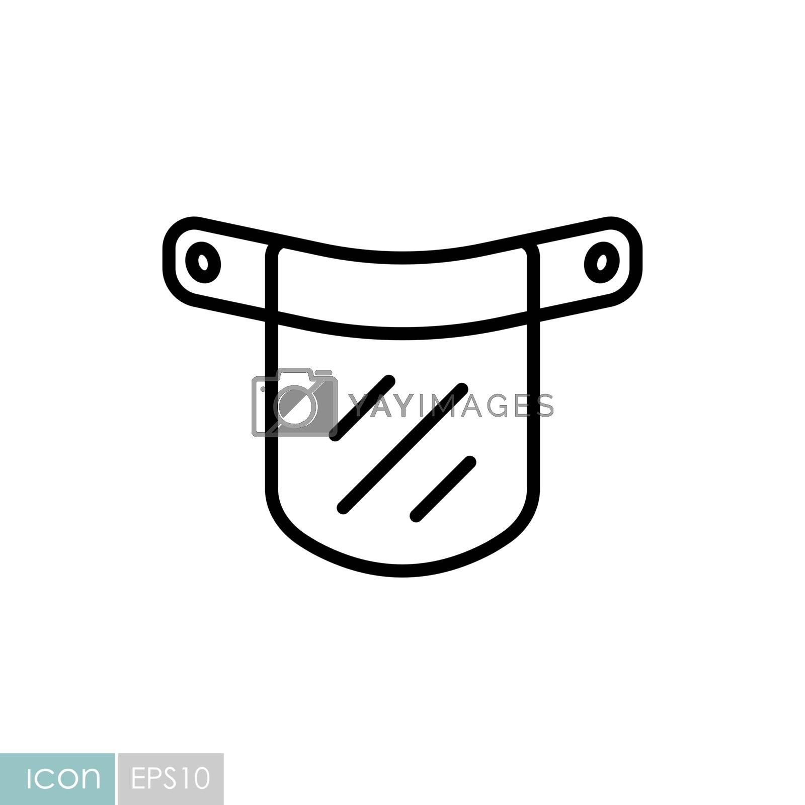 Plastic protective face shield vector icon. Medical sign. Coronavirus. Graph symbol for medical web site and apps design, logo, app, UI