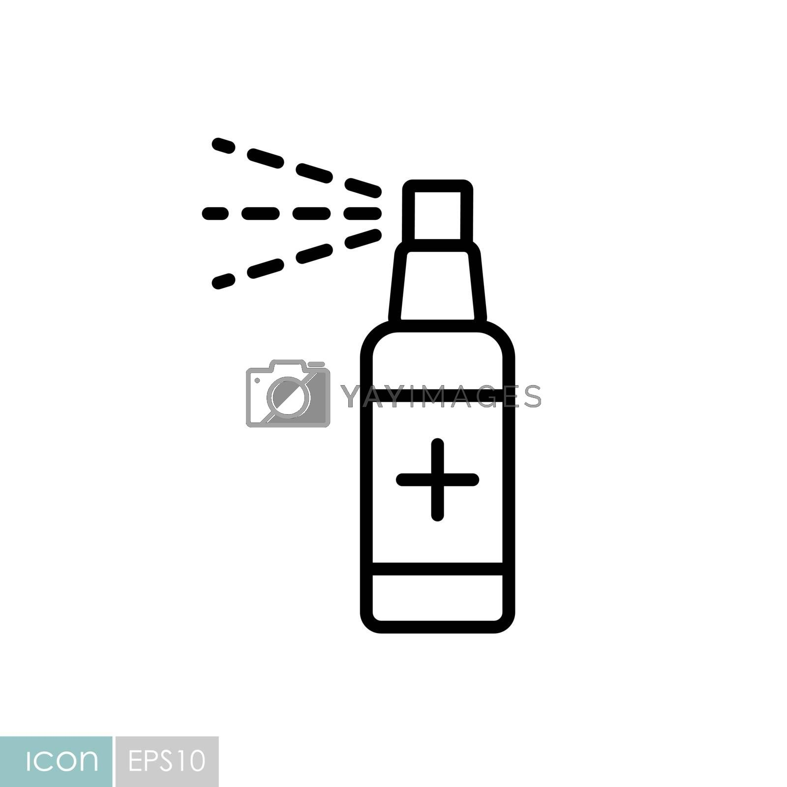 Anti-bacterial sanitizer spray, hand sanitizer vector icon. Coronavirus. Graph symbol for medical web site and apps design, logo, app, UI