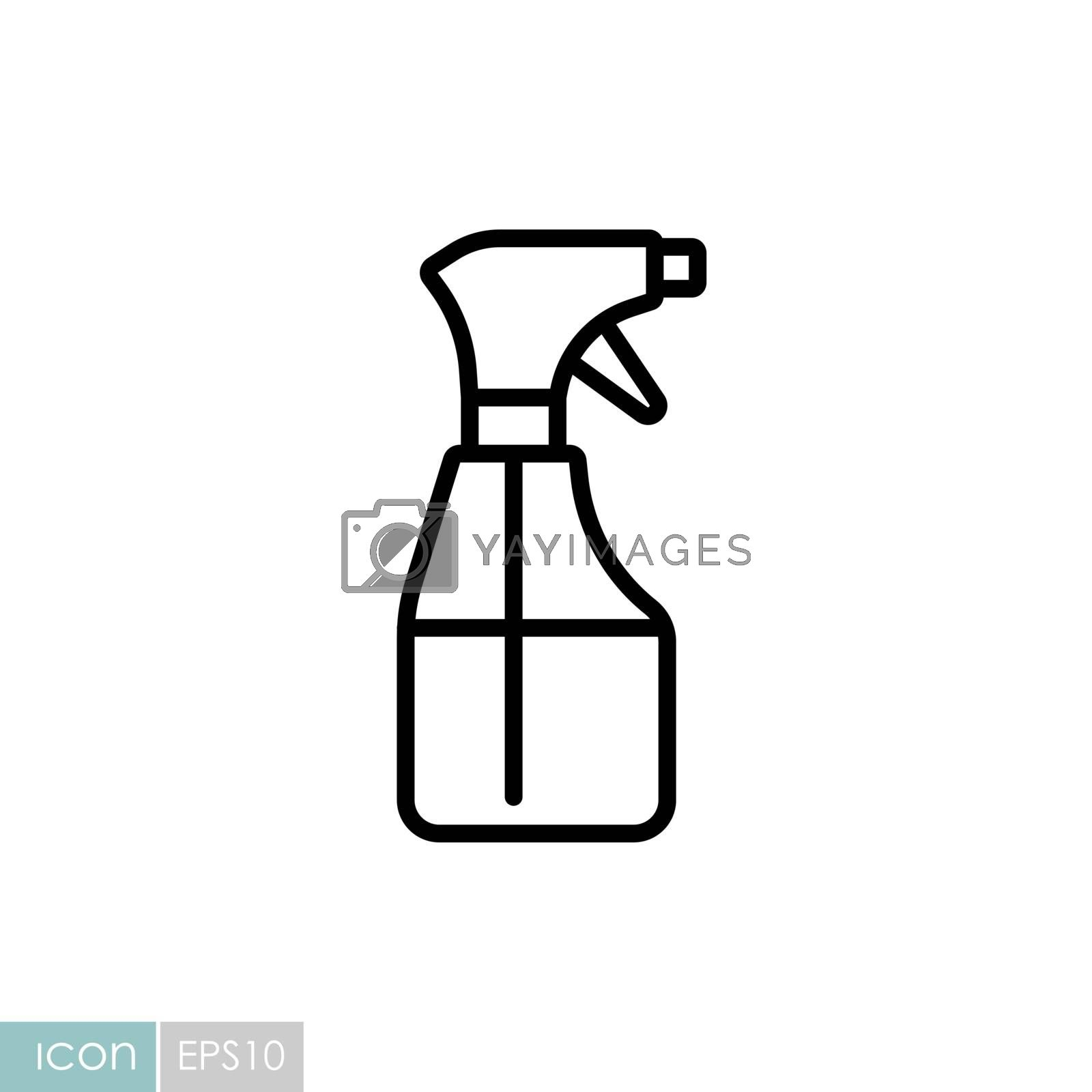 Cleaning spray bottle vector icon. Coronavirus. Graph symbol for medical web site and apps design, logo, app, UI
