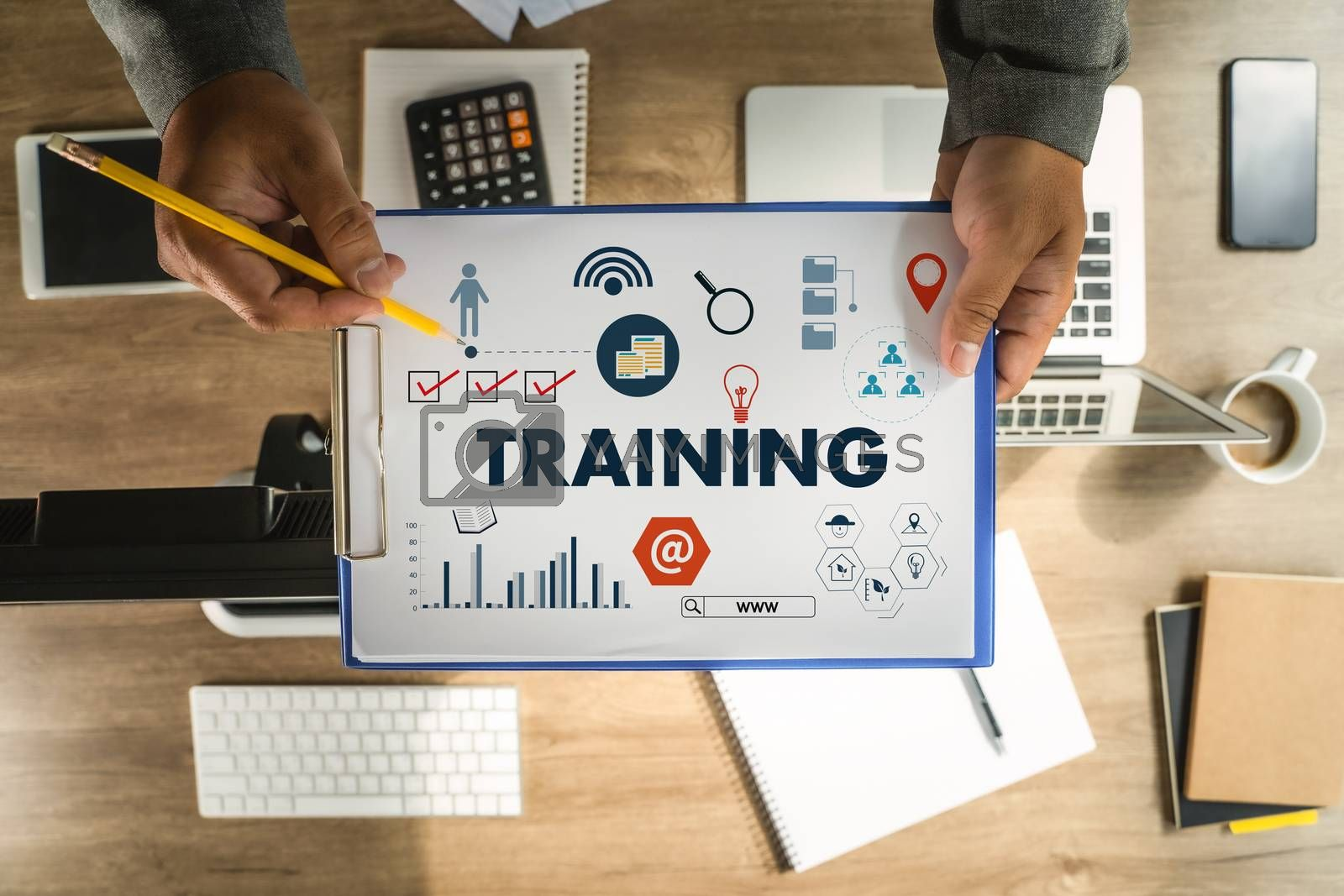 man training Business  Skilled Expert Productivity and Knowledge Training E-Learning