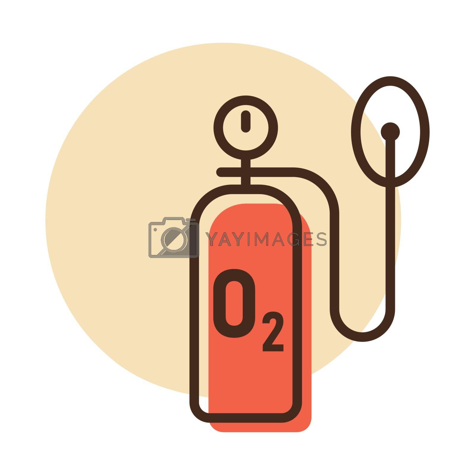 Medical oxygen cylinder vector icon. Medical sign. Coronavirus. Graph symbol for medical web site and apps design, logo, app, UI