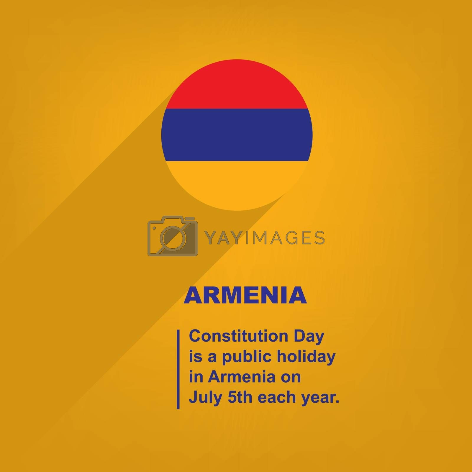 Royalty free image of Constitution Day Armenia by VIPDesignUSA