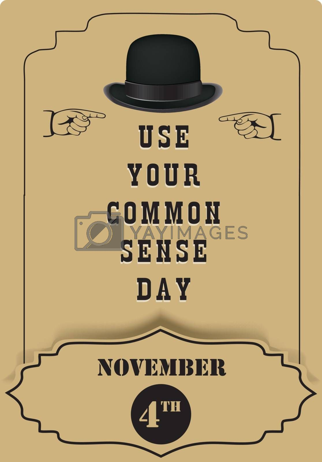 For congratulations on event - Use Your Common Sense Day