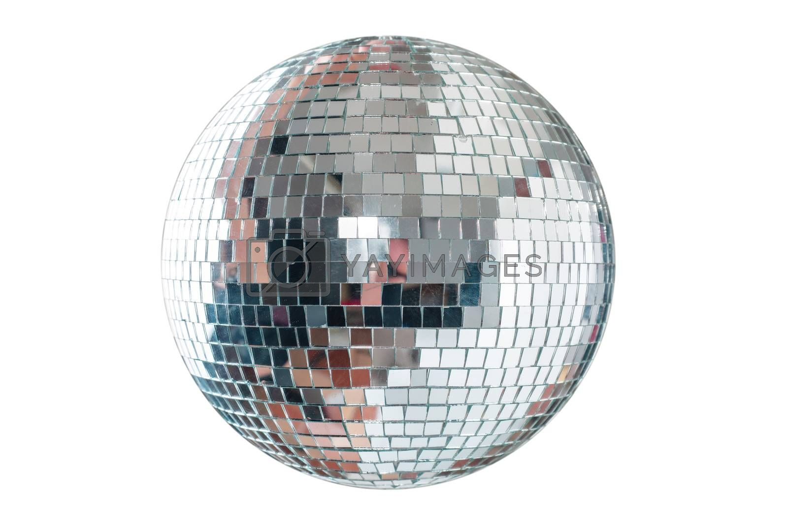 Shining Disco Ball isolated on white background