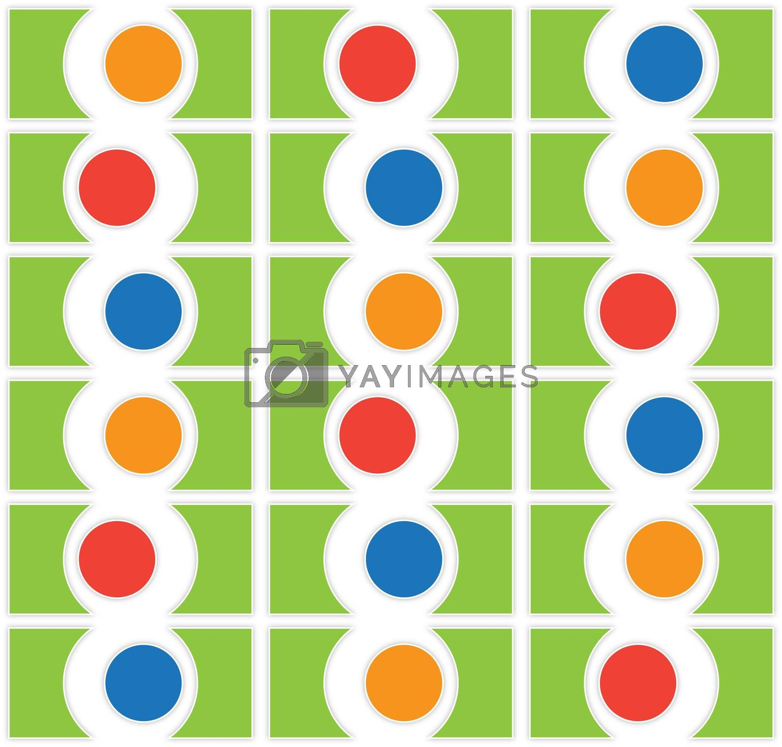 modern background textile pattern with colored balls