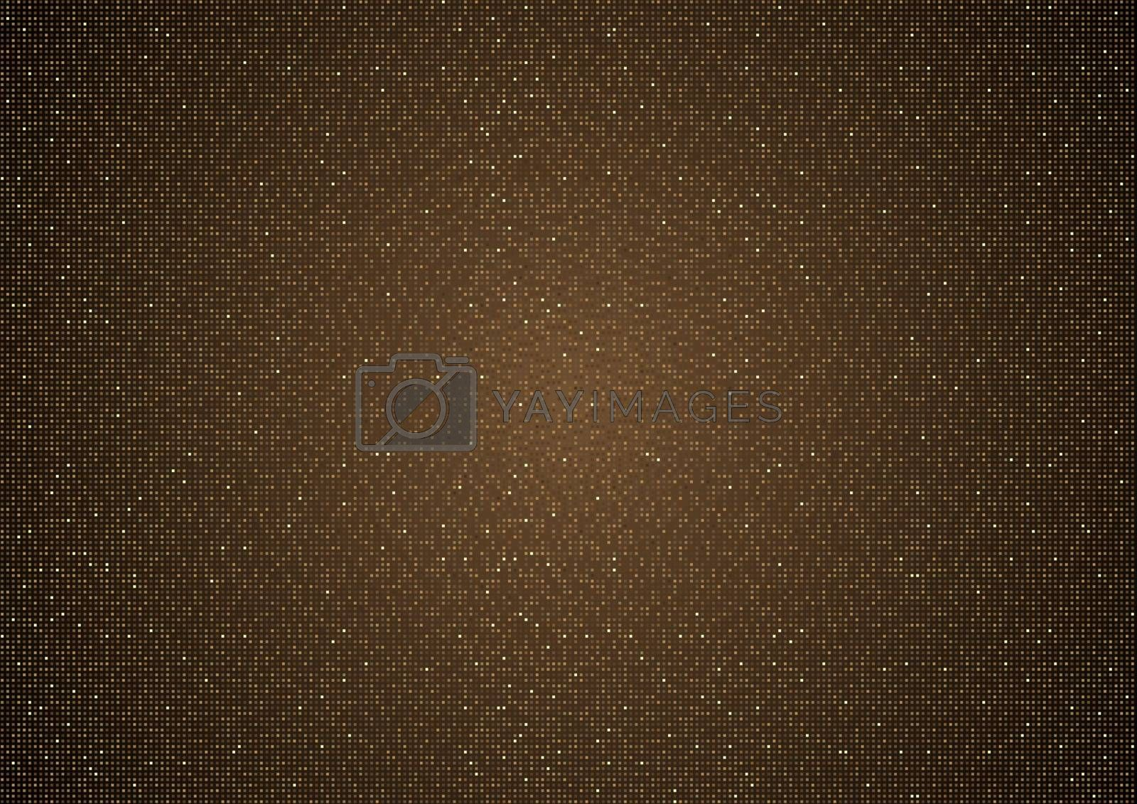 Copper Halftone Background Texture with Dotted Structure - Fine Pattern for Your Graphic Design Illustration, Vector Design Element