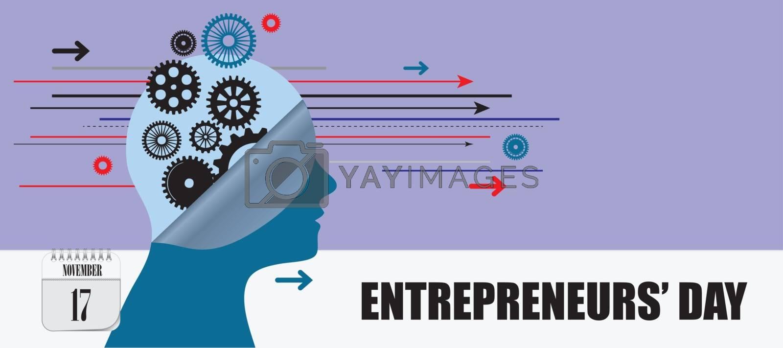 Postcard for event november day Entrepreneurs Day