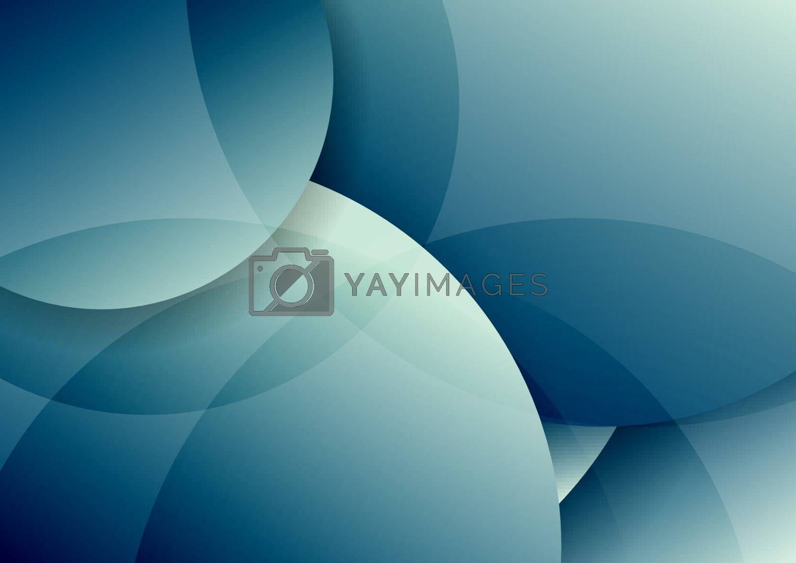 Abstract blue circles layer overlapping and shadow with lighting background. Vector illustration
