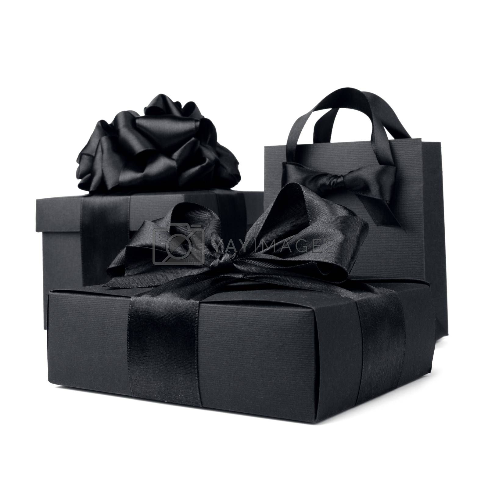 Royalty free image of Shopping black friday bags by destillat