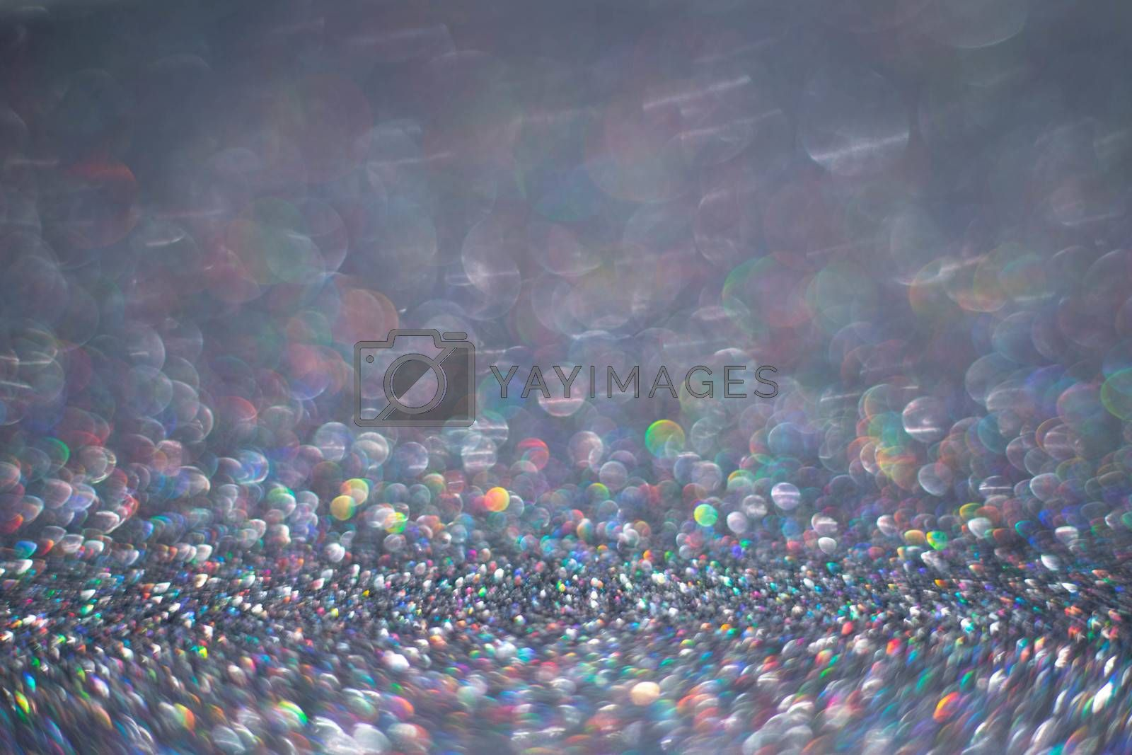 Black friday sale luxury silver background of glitters with copy space for text content, holiday backgrounds with color bokeh defocused lights
