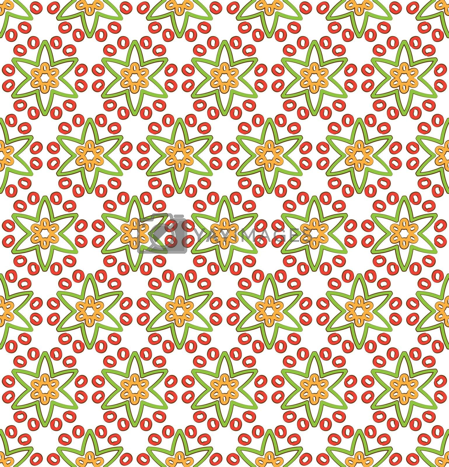 background or textile star multicolored floral pattern