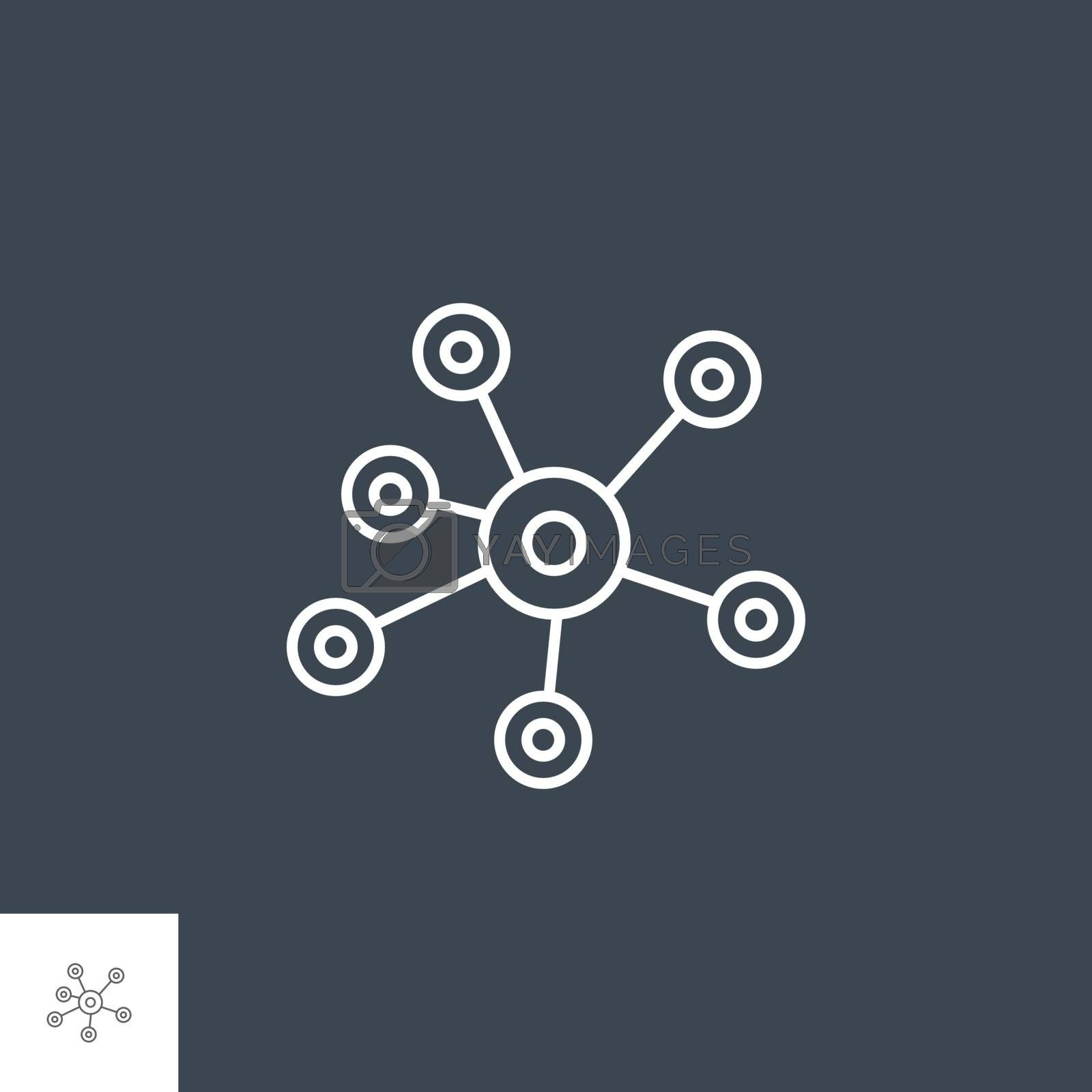 Social Media Related Vector Thin Line Icon. Isolated on Black Background. Editable Stroke. Vector Illustration.