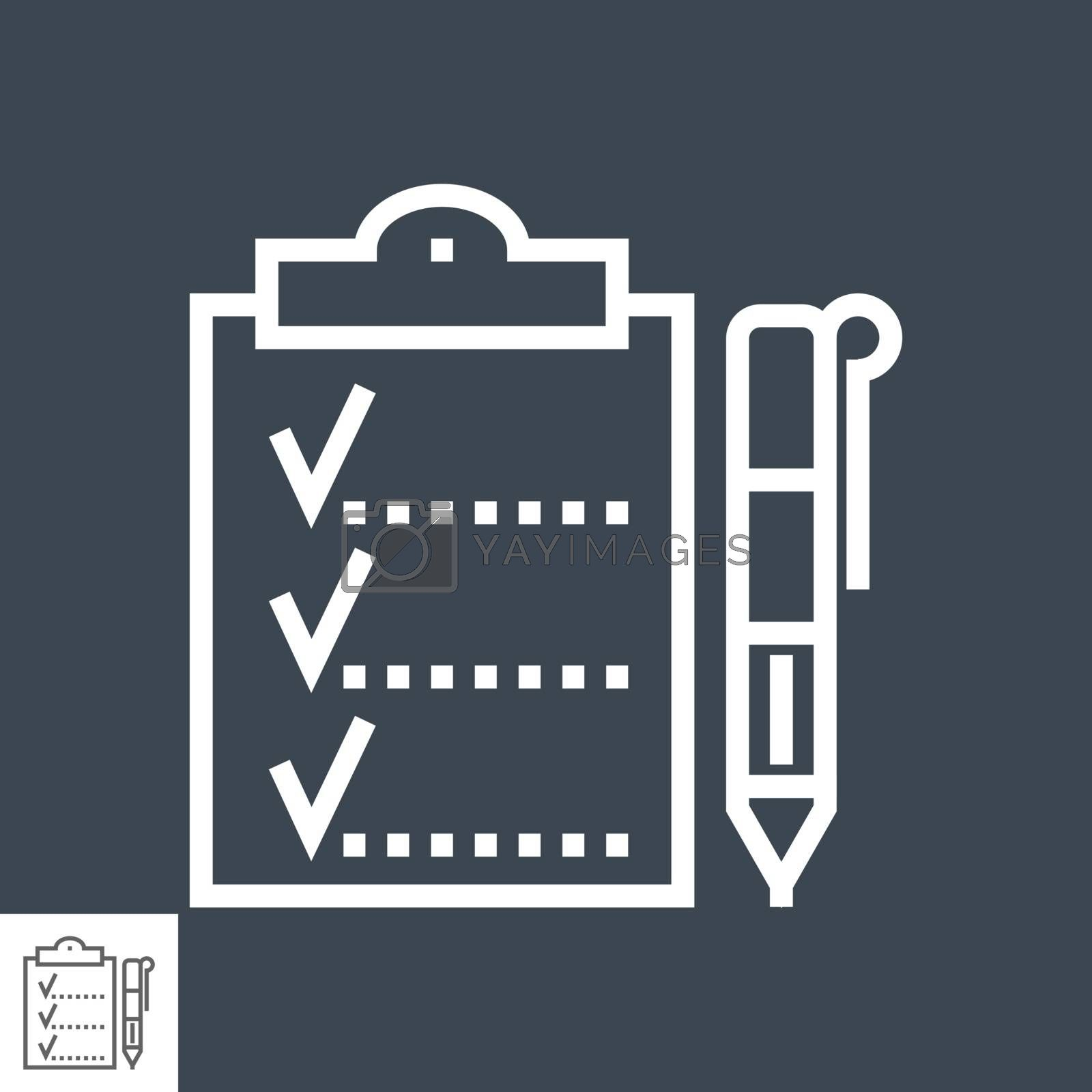 Planing Thin Line Vector Icon Isolated on the Black Background.
