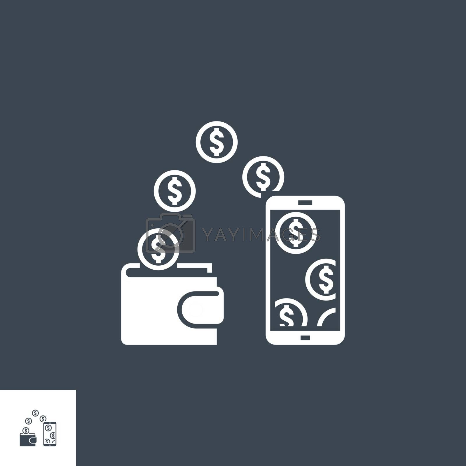 Replenishment related vector glyph icon. Isolated on black background. Vector illustration.