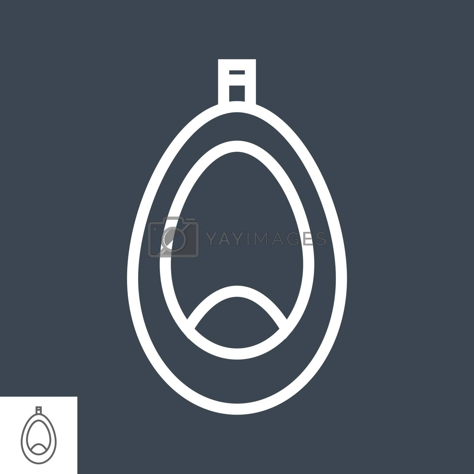 Pissoir Thin Line Vector Icon Isolated on the Black Background.
