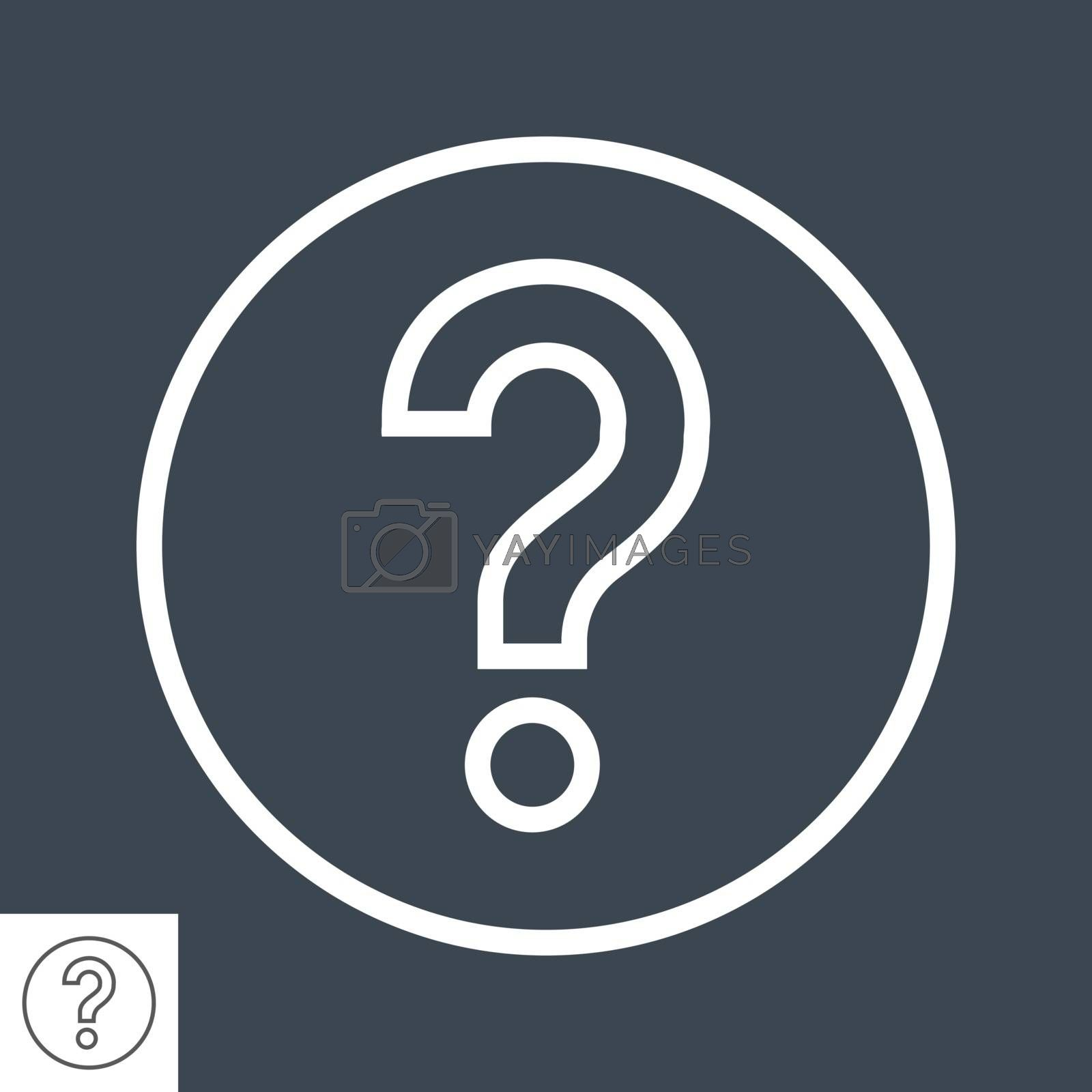 Question Mark Thin Line Vector Icon. Flat icon isolated on the black background. Editable EPS file. Vector illustration.