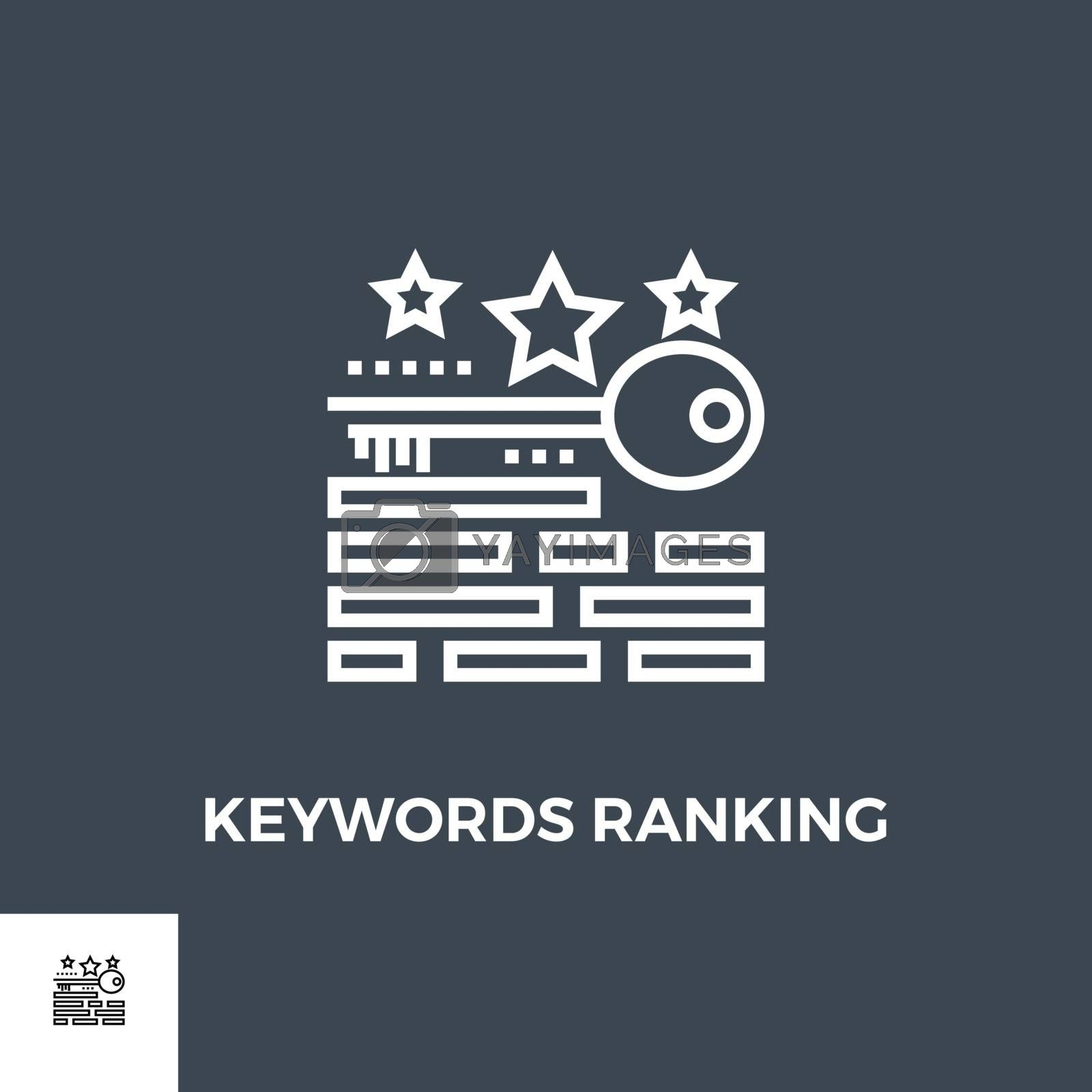 Keywords Ranking icon vector. Flat icon isolated on the black background. Editable EPS file. Vector illustration.