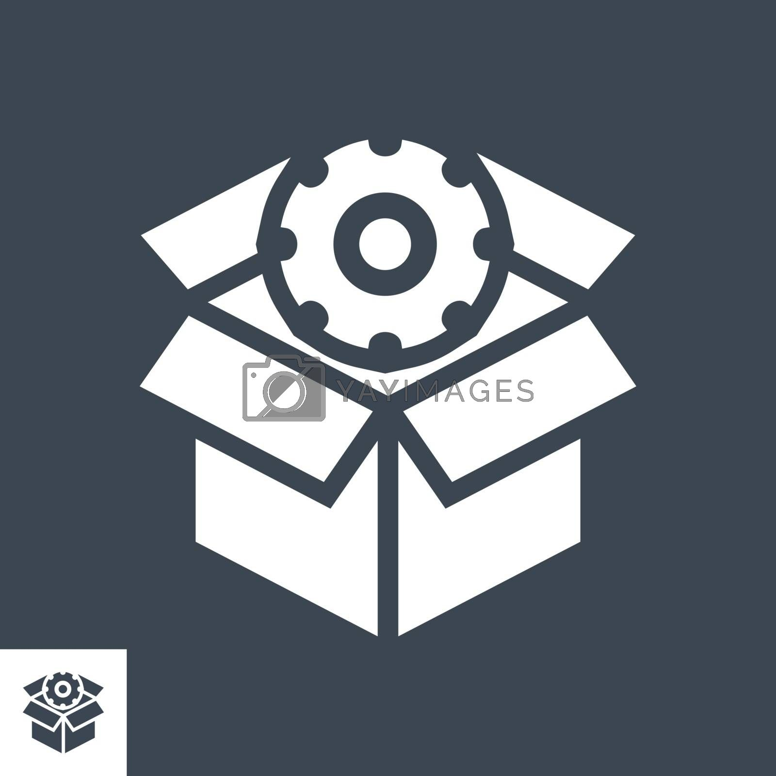 SEO Packages Related Vector Glyph Icon. Isolated on Black Background. Vector Illustration.