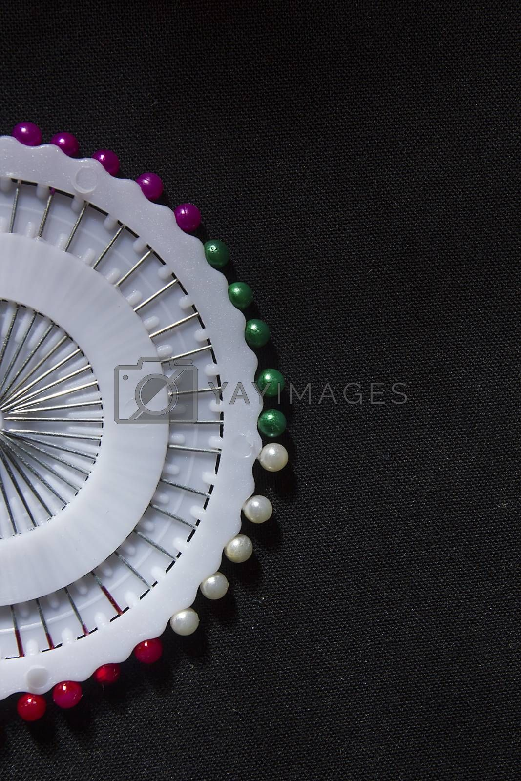 Royalty free image of Set of colorful safety pins by VIPDesignUSA