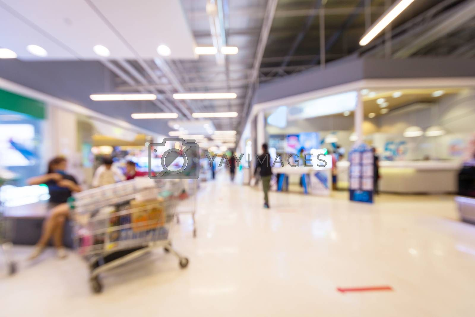 Abstract Blur image background of light bokeh in shopping mall or Department Store.