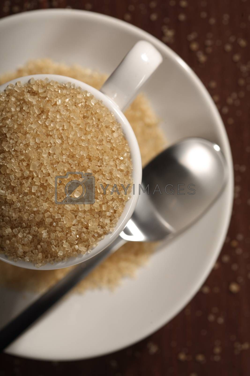 Brown sugar and cup - close-up