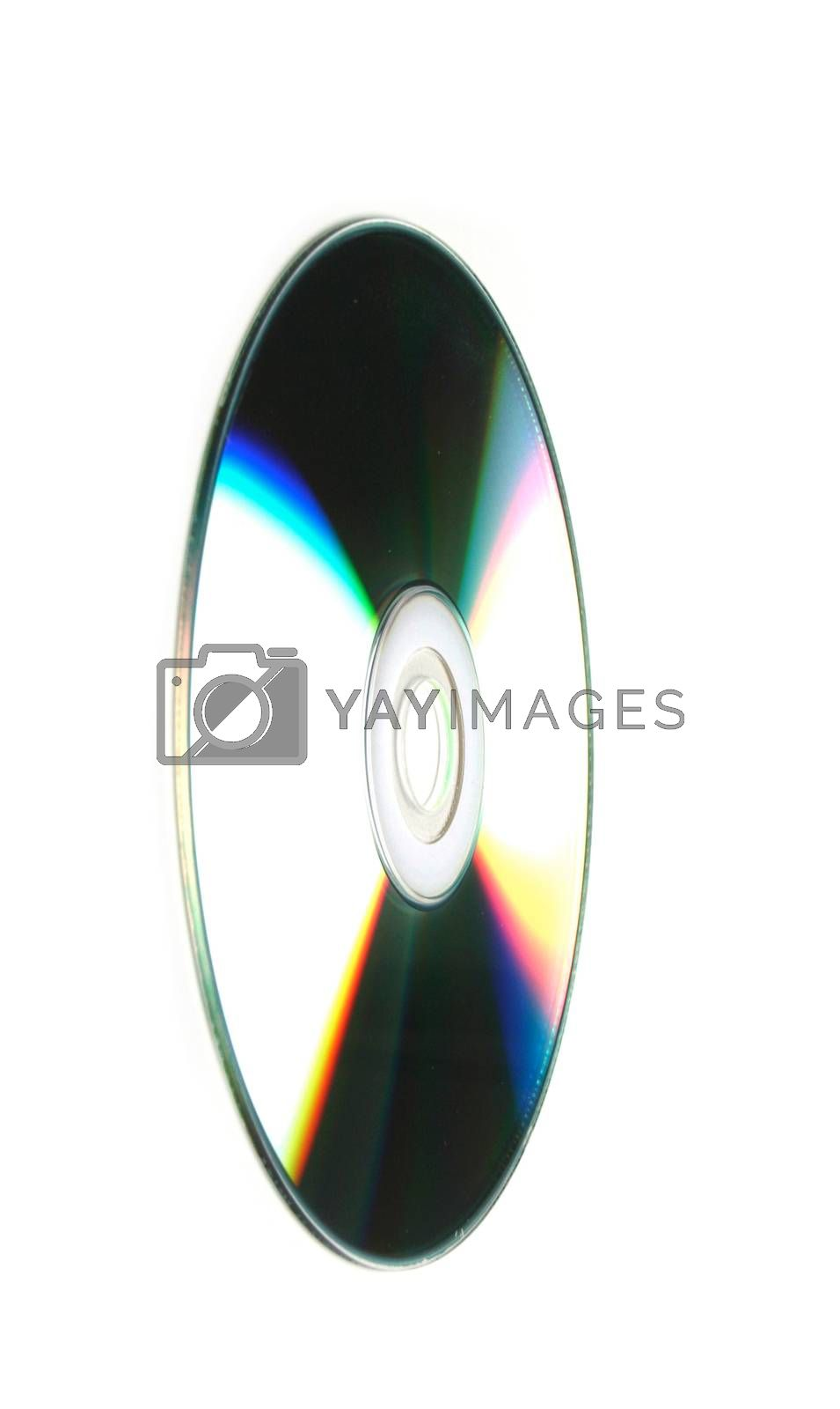 CD on white background - close-up