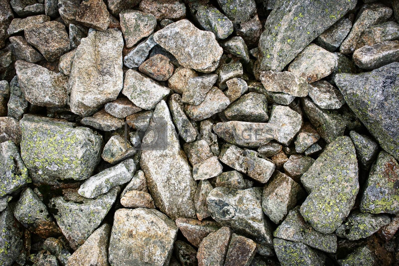 background or texture detail of a group of rubble stone