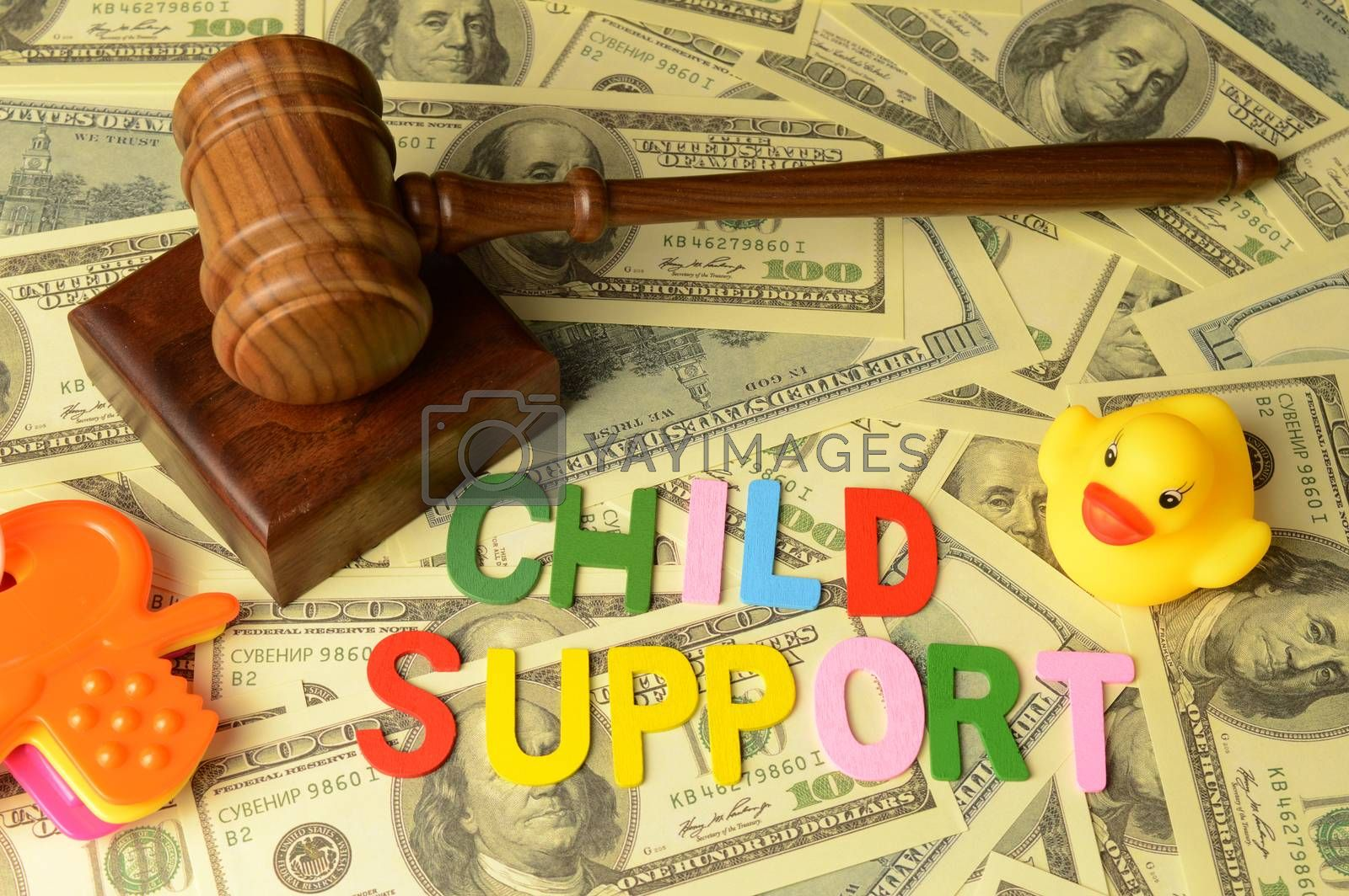A conceptual image with focus on the theme of child support.