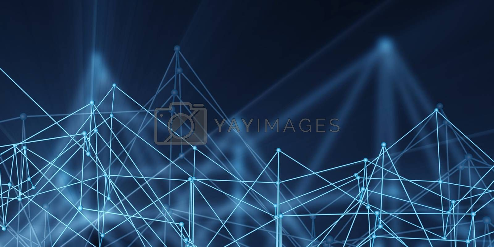 Business Services as a Technology Concept Art Abstract