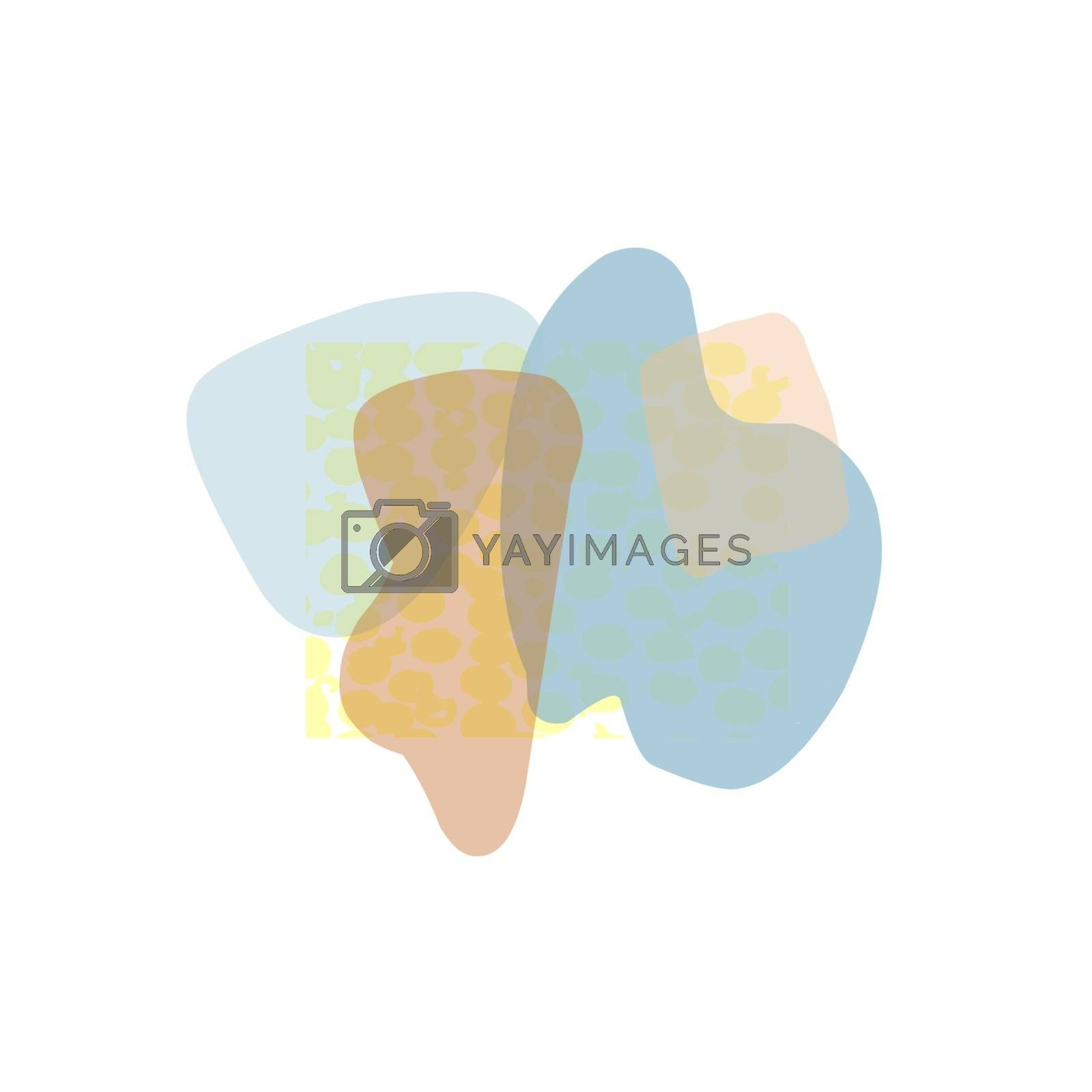 Abstract poster with geometric shapes and spots. Trendy design. Modern banner design.