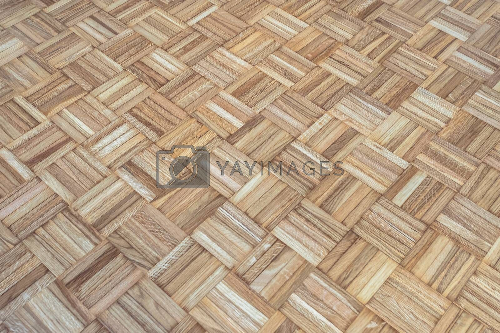 Oak square parquet floor texture. It can be used as background.