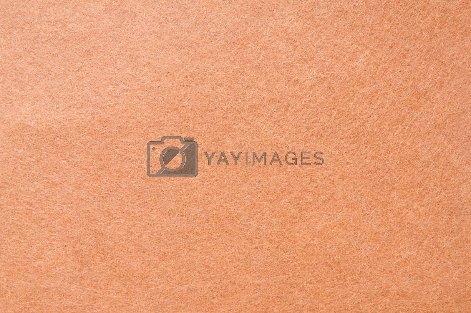Texture background of Light Brown velvet or Orange flannel Fabric as backdrop or wallpaper pattern for decoration