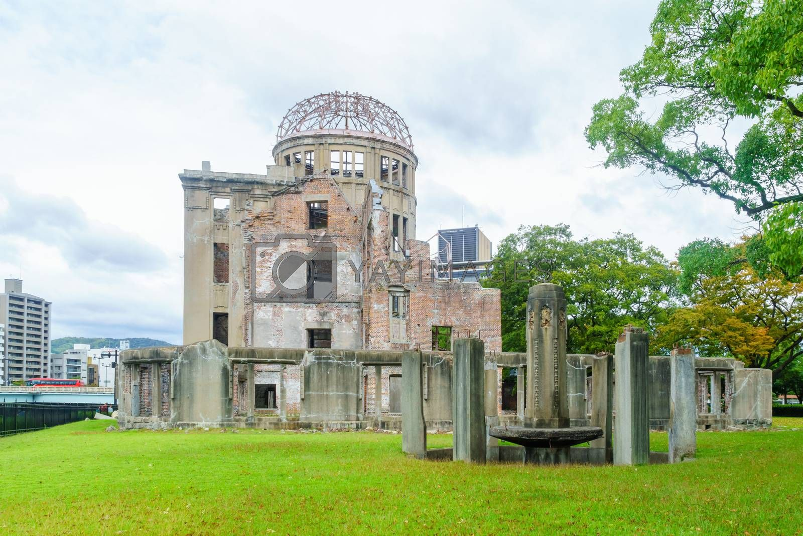 View of the Atomic Bomb Dome, in Hiroshima, Japan