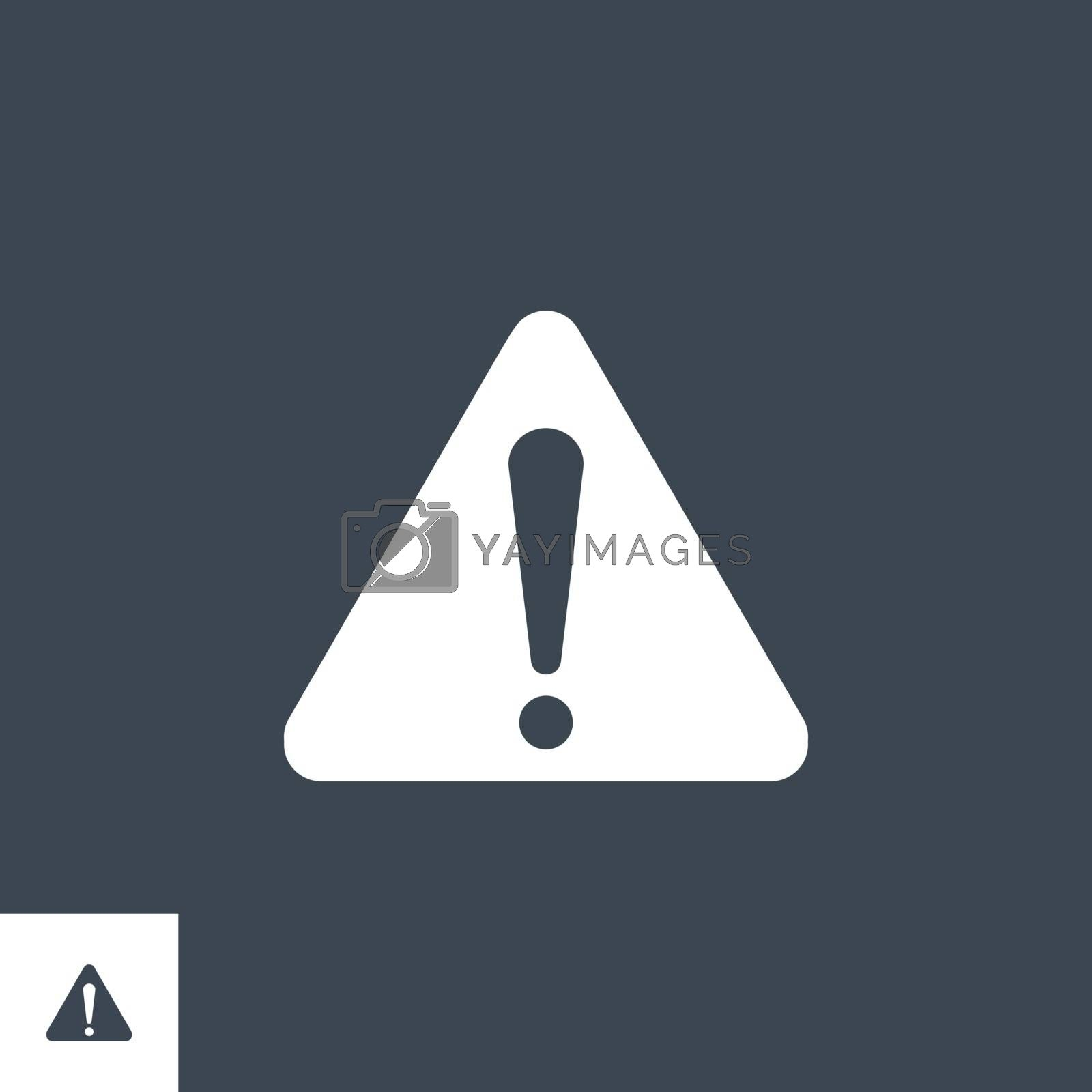 Triangle related vector glyph icon. Isolated on black background. Vector illustration.