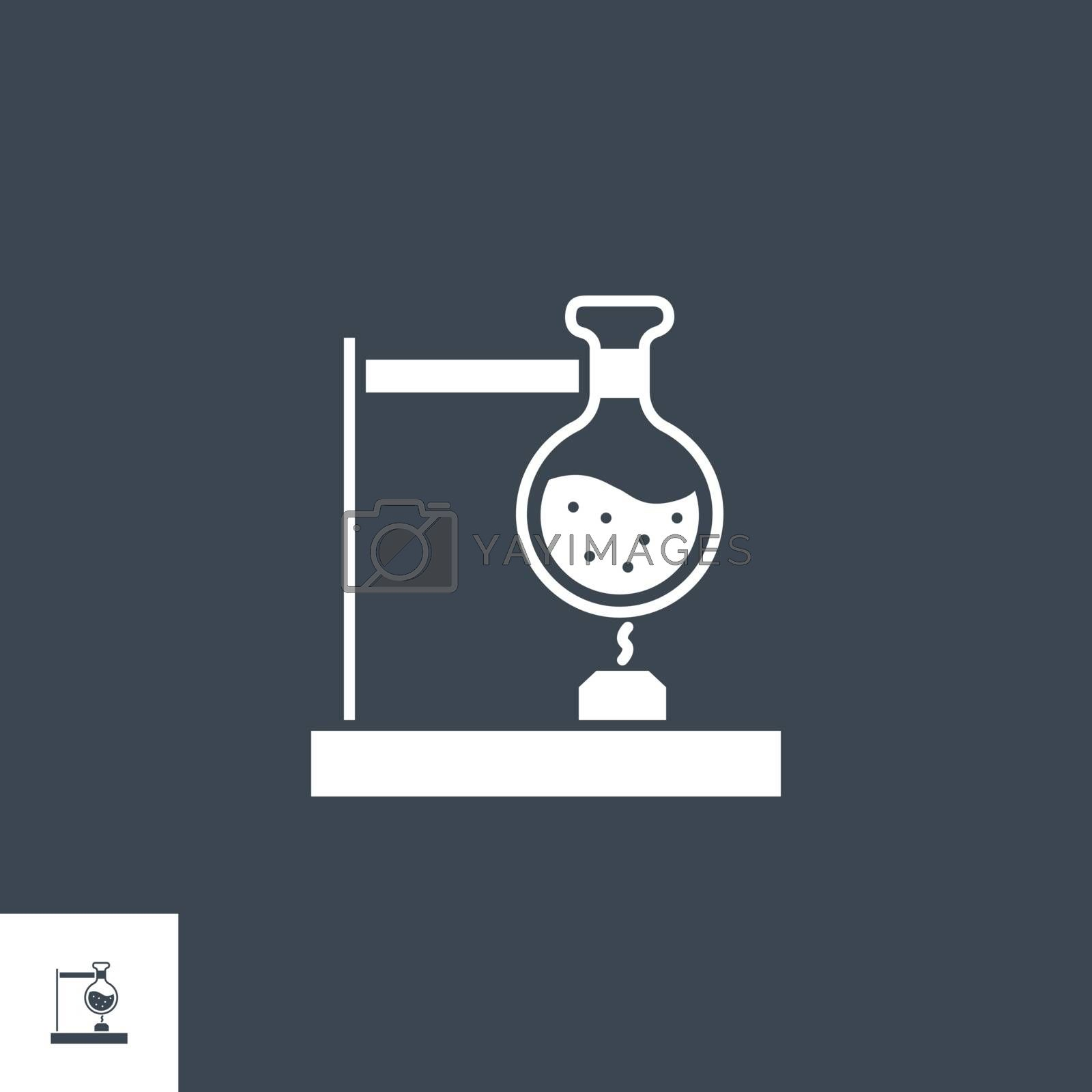 Tube Research related vector glyph icon. Isolated on black background. Vector illustration.