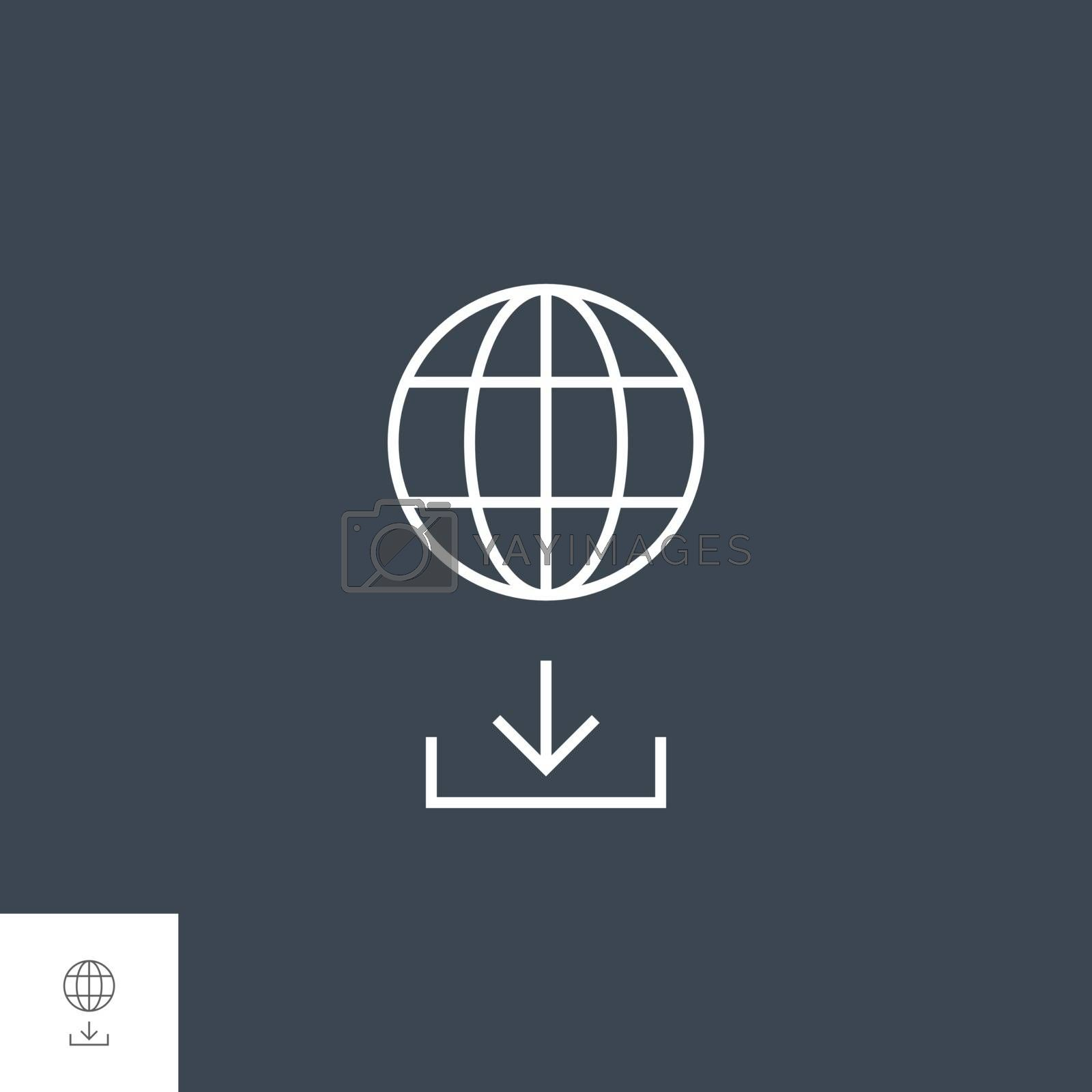 Upload Manager Related Vector Thin Line Icon. Isolated on Black Background. Editable Stroke. Vector Illustration.