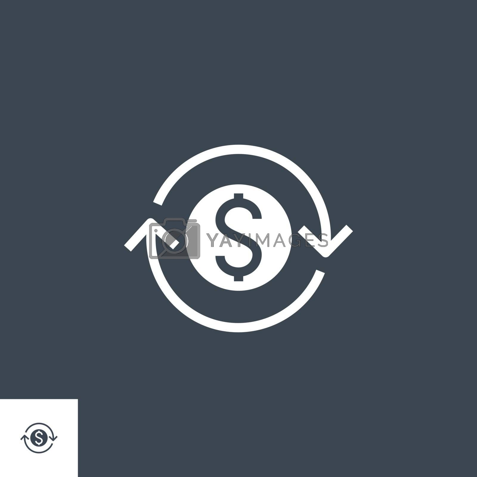 Transfer related vector glyph icon by smoki