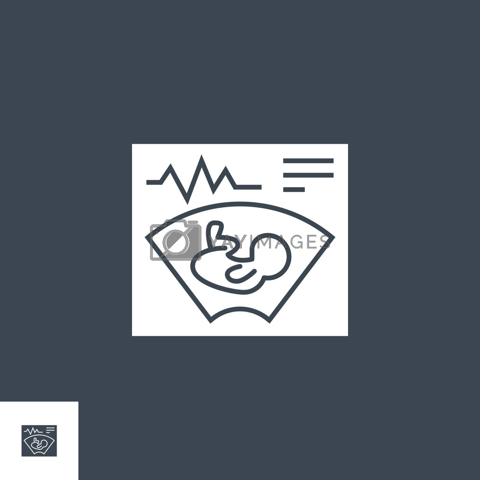 Ultrasound related vector glyph icon. by smoki