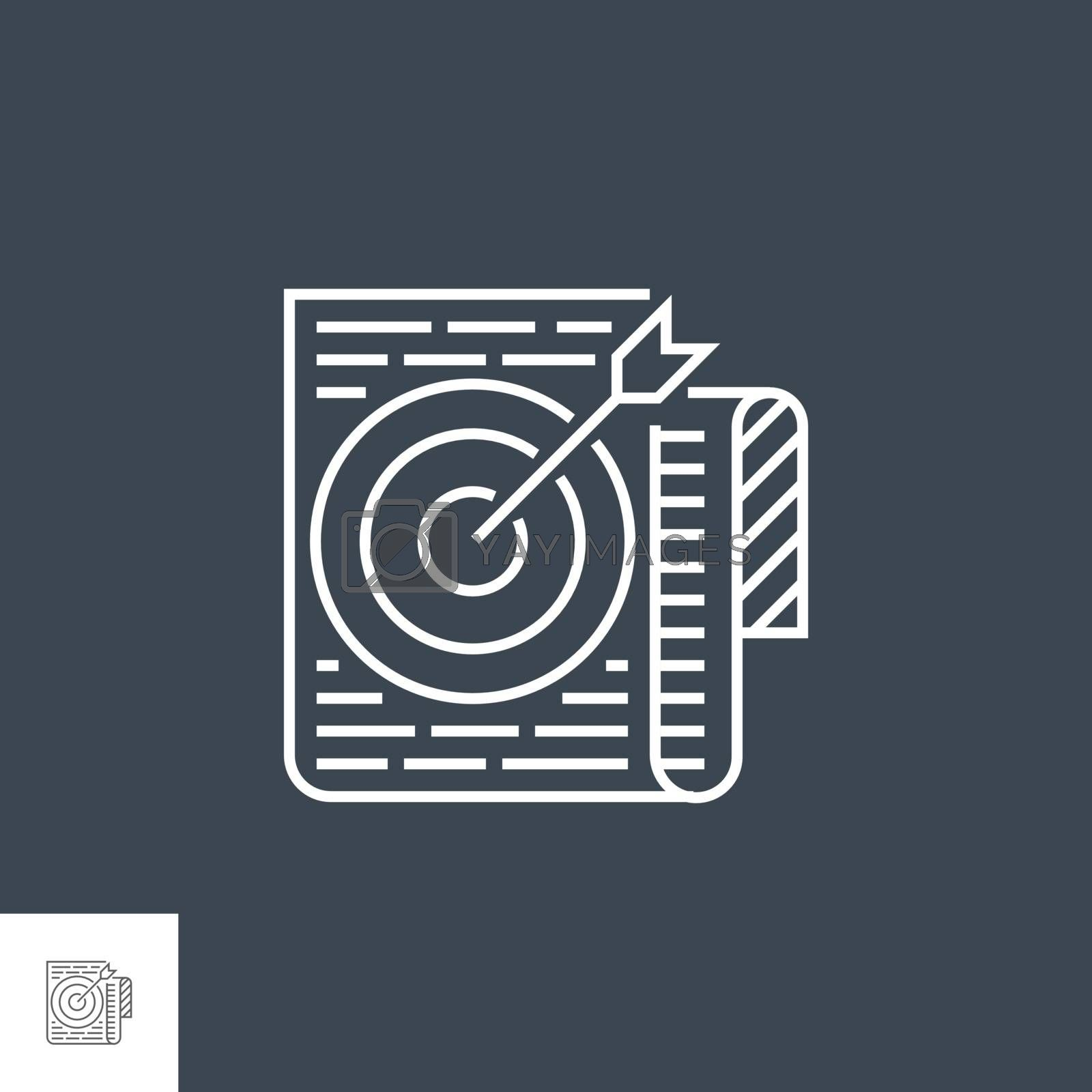 Target Keywords Line Icon by smoki
