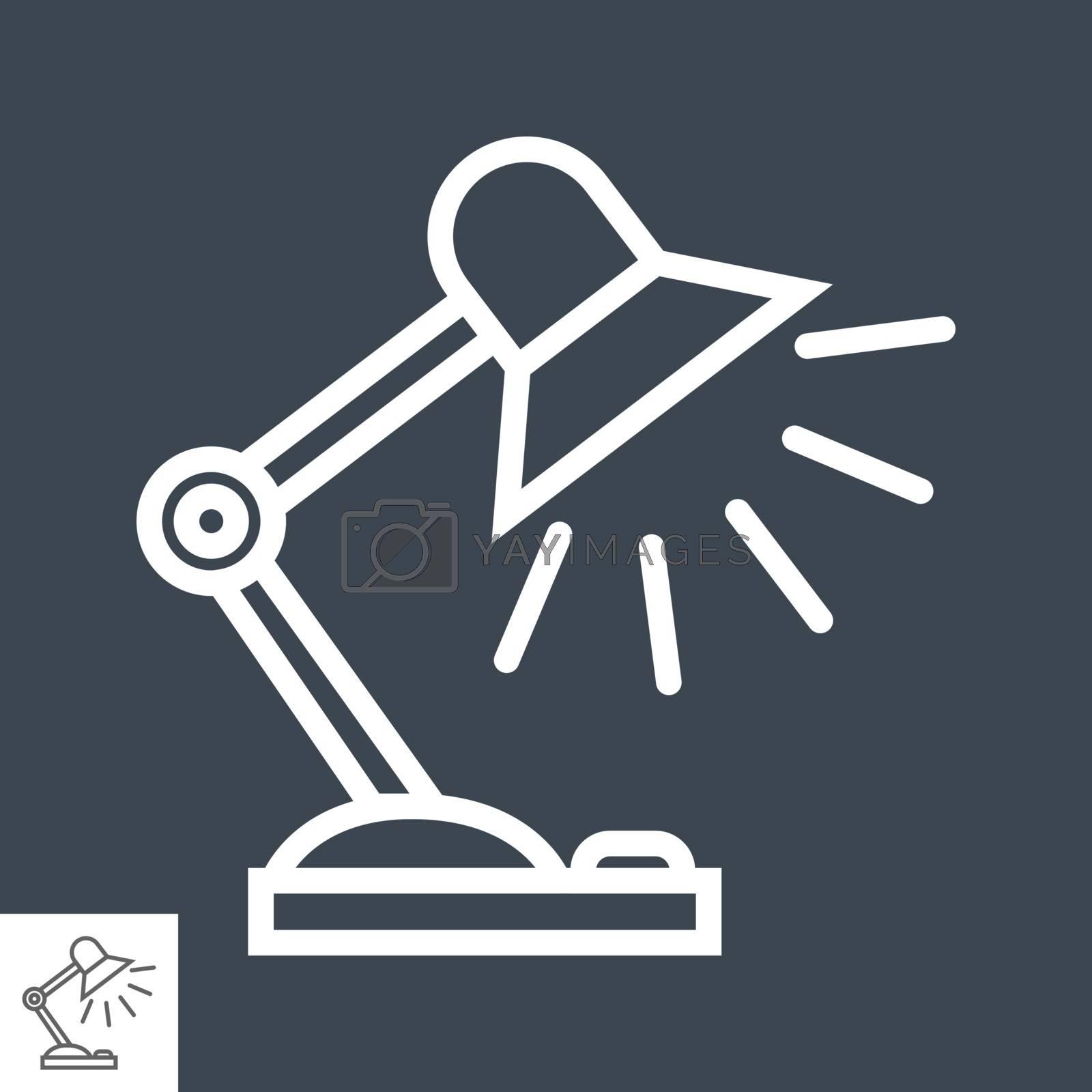 Reading-lamp flat icon by smoki