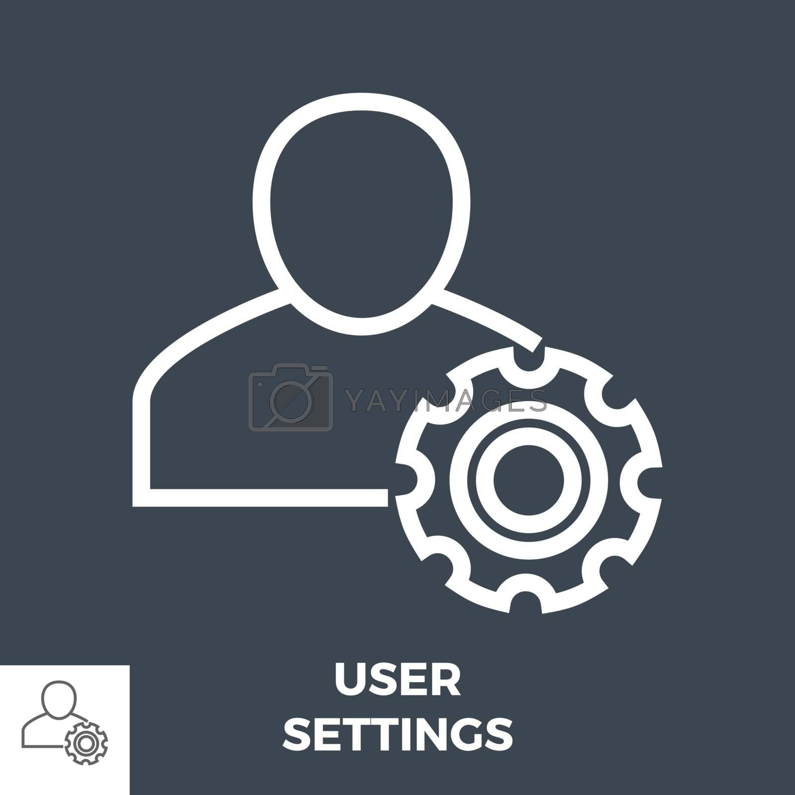 User Settings Line Icon by smoki