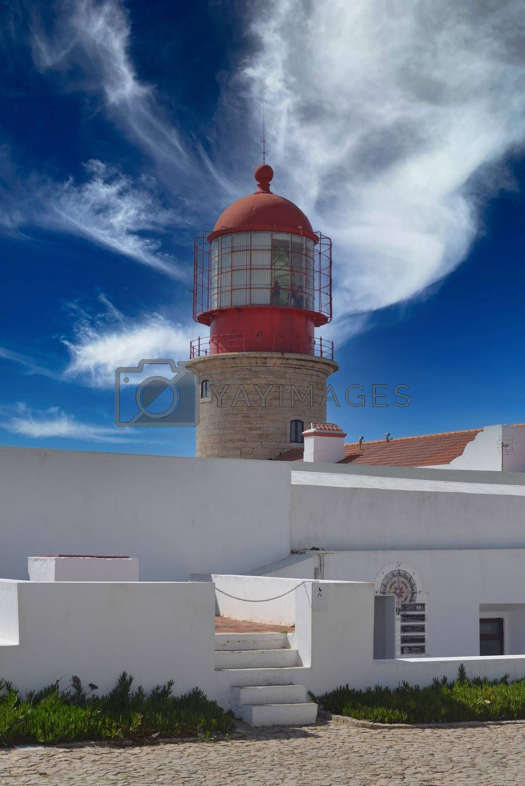 Portugal Algarve Region Sagres Lighthouse at Cape Saint Vincent - Cabo Sao Vicente - Continental Europe's most South-westerly point