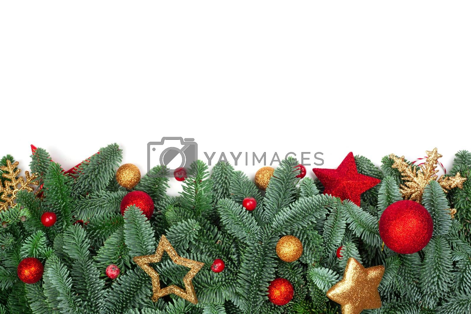 Royalty free image of Christmas tree and decor by destillat
